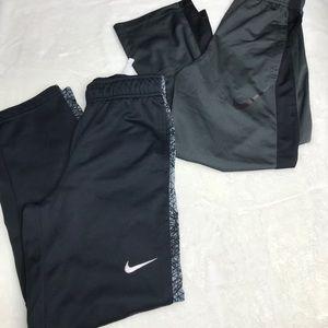 Nike pants lot- size medium dry fit draw strings